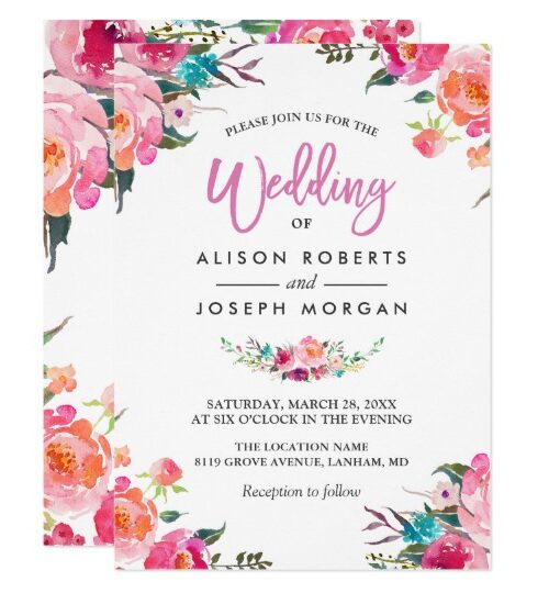 Invitation Suite: Modern Watercolor Flowers