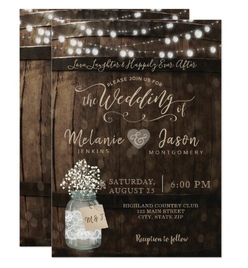 Wood & Lace Wedding Collection