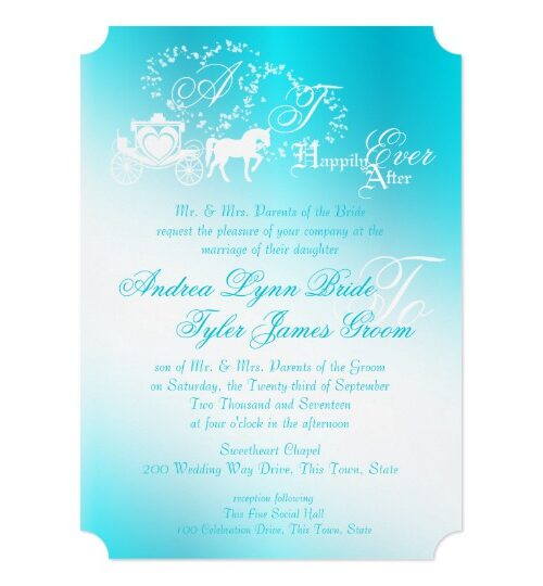 Fairytale Wedding Invitations Happily Ever After