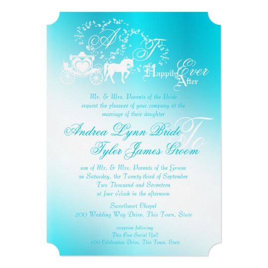 Fairytale Wedding Invitations Happily Ever After Honor And Obey