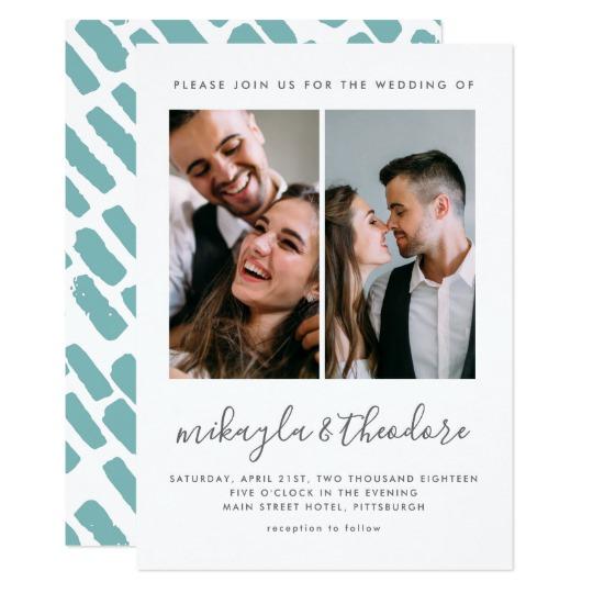 Modern Script Photo Wedding