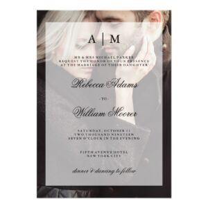 Elegant and Modern Wedding Invitations