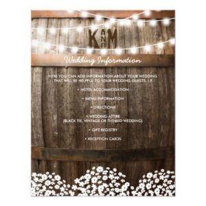 Rustic Baby's Breath Vineyard Invitation Suite