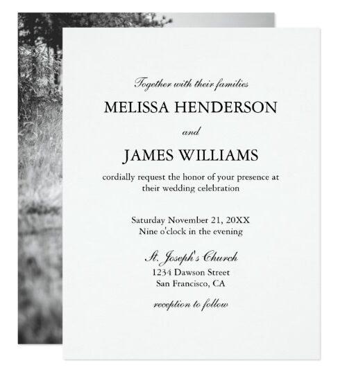 Minimalist Elegant Wedding Invitations