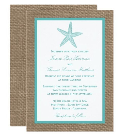 The Turquoise Starfish On Burlap Collection