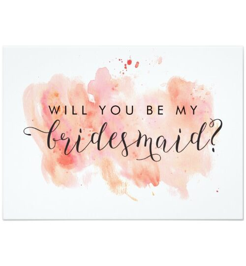 Pink Watercolor Background Wedding Collection