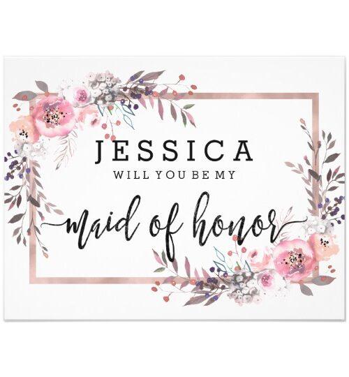 Blush Floral Framed - Wedding Suite