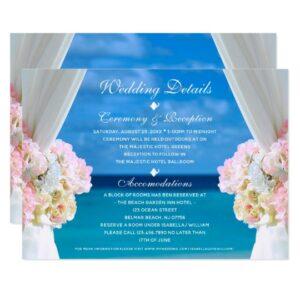 Wedding Set: Elegant Ocean Beach Summer Wedding