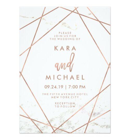 Marble Geometric Wedding