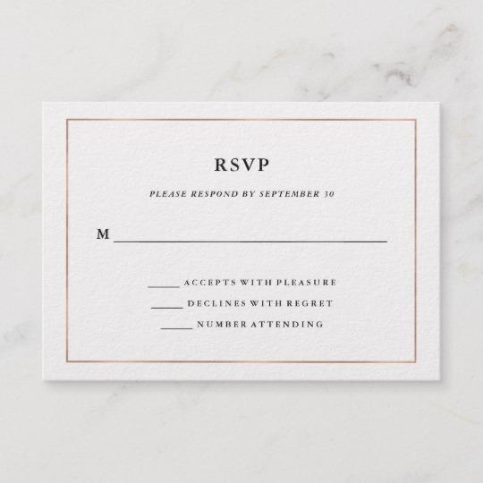 Modern Minimal Gold and Rose Gold Border Wedding