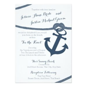 Anchor and Rope Navy Blue