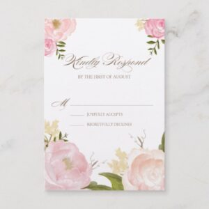 Pink Watercolor Flowers Baby Shower Collection