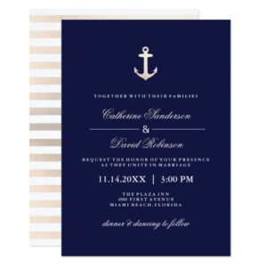 Rose Gold and Navy Nautical Collection
