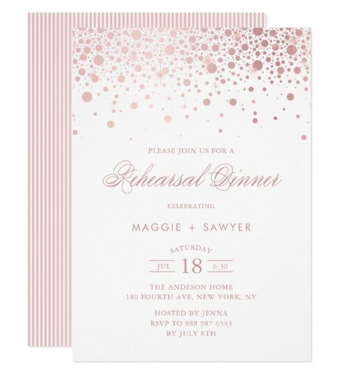 Faux Rose Gold Foil Confetti Collection