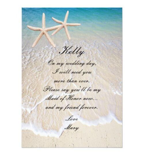 Starfish Beach Wedding