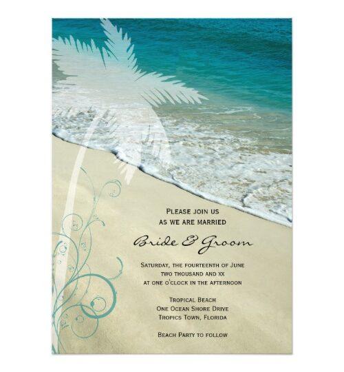 Tropical Beach Wedding Reception Party Supplies