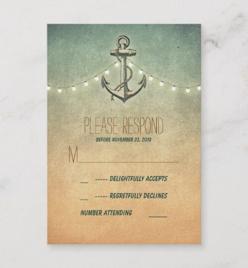 Rustic Anchor Nautical Wedding Collection