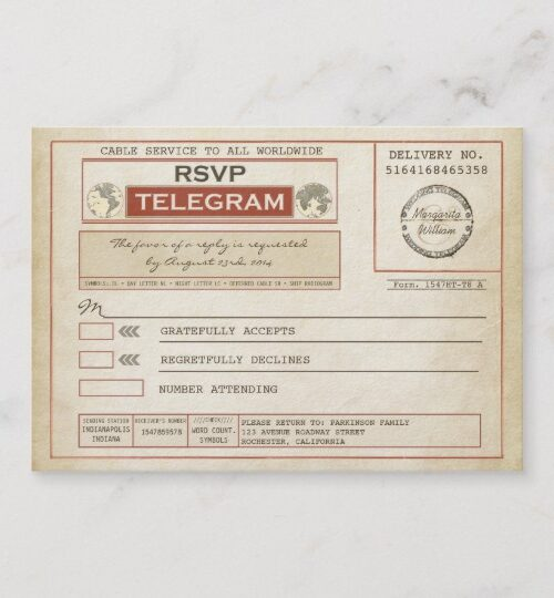 Marriage Telegram Wedding Collection
