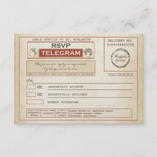 Marriage Telegram Wedding Collection