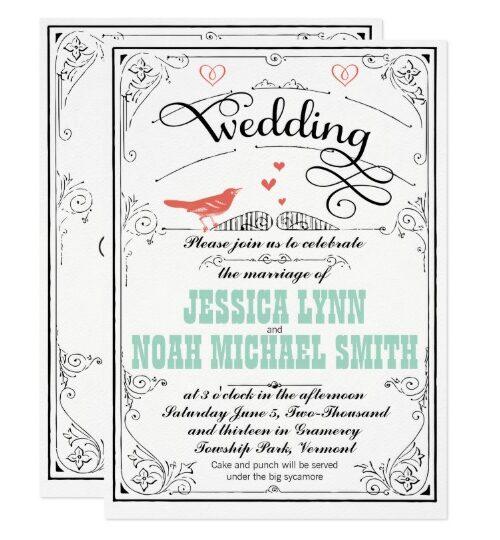 Coral Love Bird Wedding Collection
