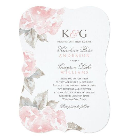 Wedding Collection | Pink Watercolor Roses