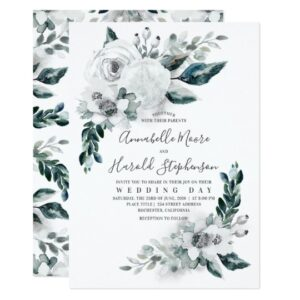 Natural White Watercolor Flowers