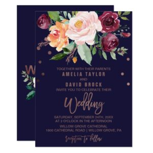Autumn Floral Wedding Invitation Collection