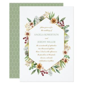 Autumn Wildflowers Wedding in Sage