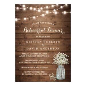 Invitation Suite: Rustic Baby's Breath Mason Jar