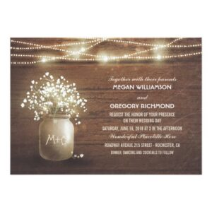 Mason Jar Baby's Breath Wedding Lights Collection