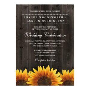 Barn Wood + Rustic Sunflower Wedding Suite