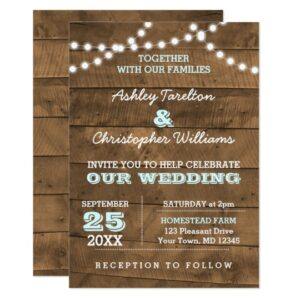 Wedding Barnwood Lights Aqua Collection