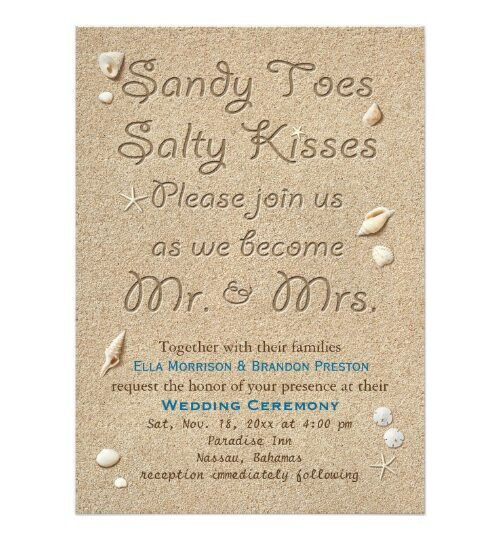Beach Sandy Toes Salty Kisses Wedding Collection