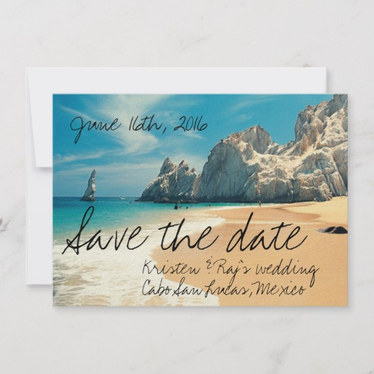 Beach Wedding Save The Dates Honor