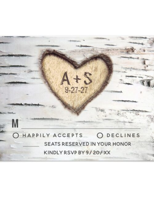 Carved Birch Tree Bark Wedding Invite Collection
