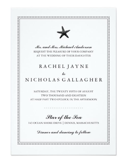 Graceful Starfish Wedding | Black
