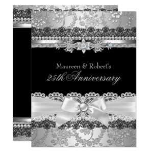 50th 25th Wedding Anniversary Elegant Invitation