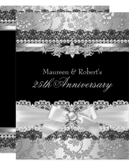 50th 25th Wedding Anniversary Elegant Invitation