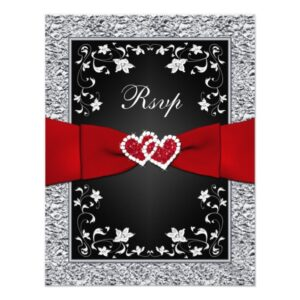 PRINTED Red Ribbon of Love Wedding Designs