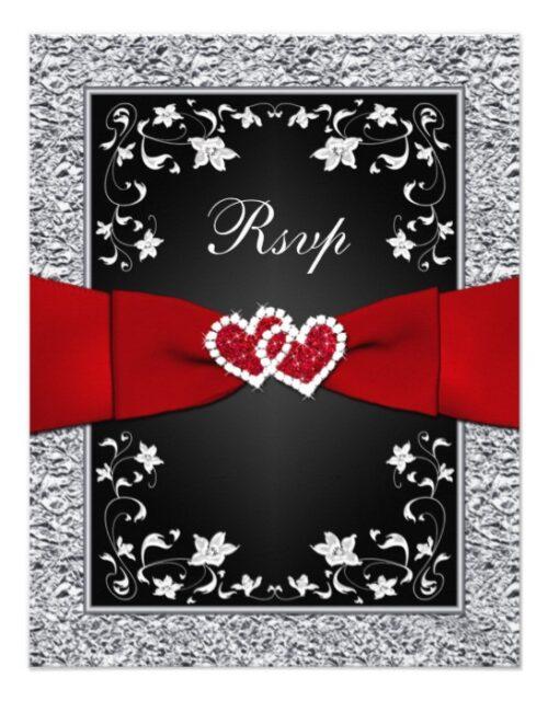 PRINTED Red Ribbon of Love Wedding Designs