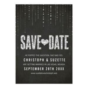 Glitter Look Save The Dates