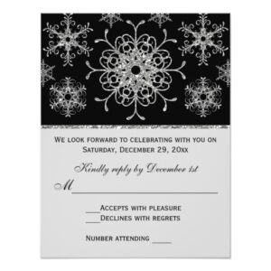Black, Silver Snowflakes Wedding Collections