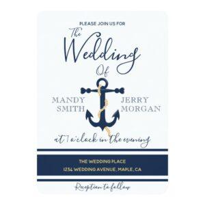 Nautical Blue Anchor Wedding Design