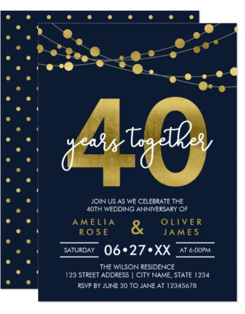 Strings of Lights Faux Gold Celebration Collection