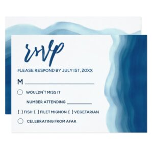 Watercolor Blue Wave Wedding Collection