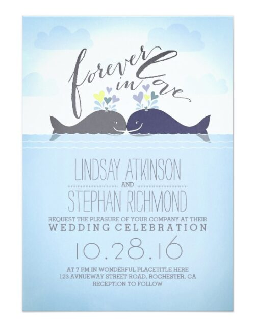 Whales Cute Beach Wedding Collection