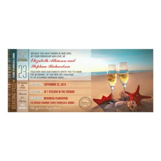 Beach Wedding Luxury Invitations Collection