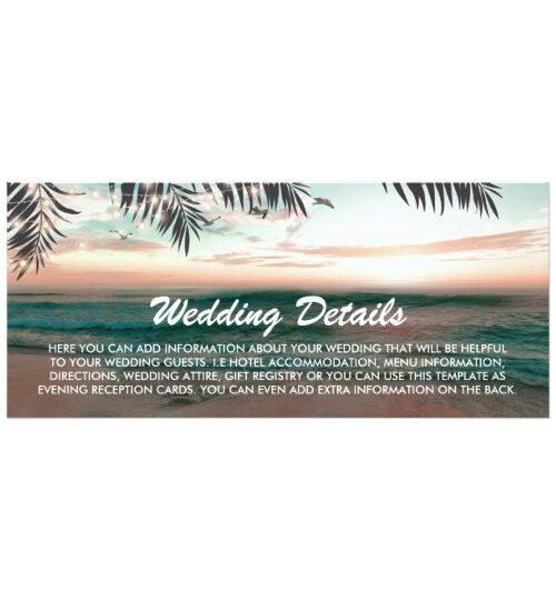 Tropical Beach Destination Invitation Suite
