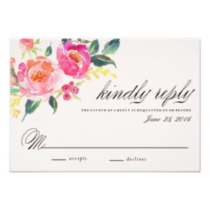 Bohemian Floral Wedding Invitation