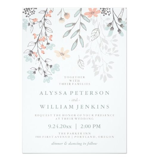 Boho Botanical Rustic Wedding Suite